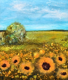"""Obrazy - Arttexový obraz """"Už kvitnú slnečnice"""" - 13321389_"""