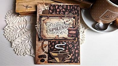 Papiernictvo - Káva pohľadnica - 13319392_