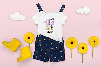 Detské oblečenie - Detské body na 1. rok - 13320731_