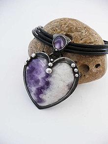 "Náhrdelníky - Cínový šperk ""Láska ľady roztápa"" - 13319020_"