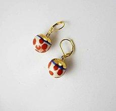 Náušnice - TANA hand made jewellery - keramika/zlato - 13320337_