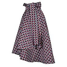 Sukne - ANNA - elegantná asymetrická zavinovacia sukňa (modročervené guličky) - 13320411_