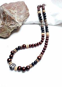 Šperky - Náhrdelník drevený pre pánov - 13319488_