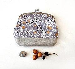 Peňaženky - Peňaženka XL Maličké kvietky - 13321038_