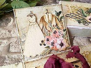 Papiernictvo - Svadobná gratulačná krabička / Exploding box Truhlička - 13320184_