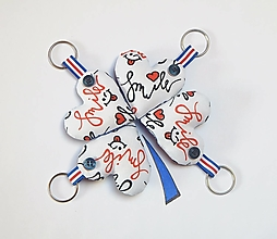 Kľúčenky - Prívesky na kľúče - Úsmev (smile) - 13318807_