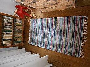 Úžitkový textil - tkany koberec pestry - 13323379_