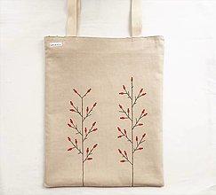 Nákupné tašky - Ľanová maľovaná taška - Šípky - 13323014_