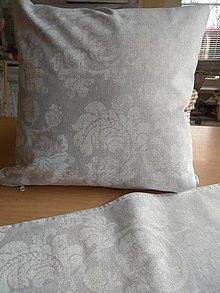 Úžitkový textil - Vankúš sivý ornament - 13322424_