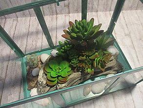 Dekorácie - Mini skleník - 13323208_