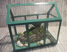 Dekorácie - Mini skleník - 13323216_