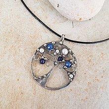 Náhrdelníky - BLUE strom života náhrdelník - 13323062_