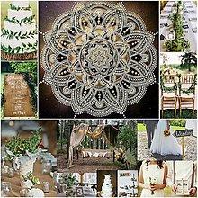 Obrazy - SVADOBNÁ MANDALA LÁSKY a ŠŤASTNÉHO ŽIVOTA ❤️pre mladomanželov, originálny svadobný dar - 13323493_