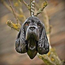 Kľúčenky - Americký kokeršpaniel - kľúčenka, prívesok podľa fotografie psa - 13323136_