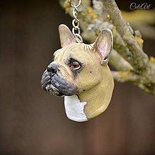Kľúčenky - Francúzsky buldoček - kľúčenka, prívesok podľa fotografie psa - 13323141_
