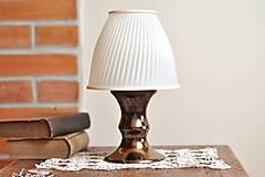 Svietidlá a sviečky - Stolná lampa z keramiky- Elegant - 13323859_