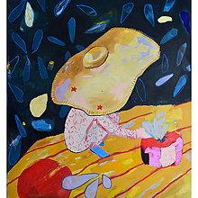 Obrazy - Malý princ a jahoda - 13323091_
