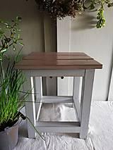 Nábytok - Vidiecky mini stolček - 13321885_