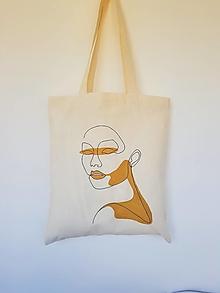 Nákupné tašky - •ručne maľovaná plátená taška - Zlata• - 13323698_