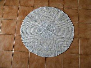 Úžitkový textil - Háčkovaný koberec - 13321825_