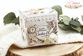 Papiernictvo - Darčeková krabička k 1. sv. prijímaniu / birmovke VI - 13326420_