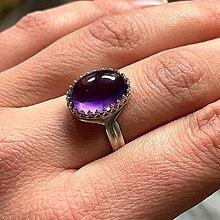 Prstene - Amethyst & Silver Ag925 Ring / Strieborný vintage prsteň s ametystom - 13324771_