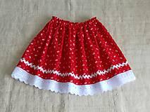 Detská suknička folk-červená