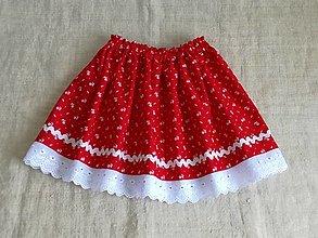 Detské oblečenie - Detská suknička folk-červená - 13324580_