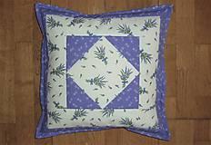 Úžitkový textil - Obliečka na vankúš levanduľová - 13327733_