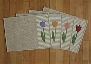 Úžitkový textil - Prestieranie s tulipánmi - 13326661_