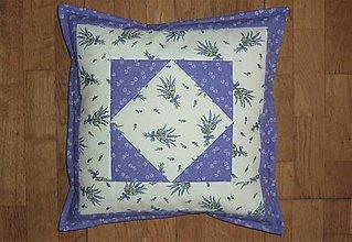 Úžitkový textil - Obliečka na vankúš levanduľová (2) - 13327733_