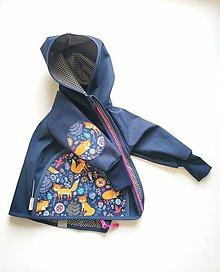 """Detské oblečenie - Softshellka jarná """"líštička na lúke"""" - 13324839_"""