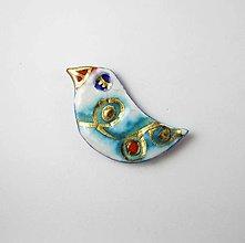 Odznaky/Brošne - Tana šperky - keramika/zlato - 13327247_