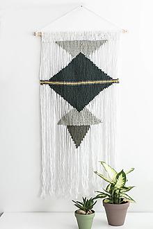 Dekorácie - Makramé závesná dekorácia na stenu - etno - 13325288_