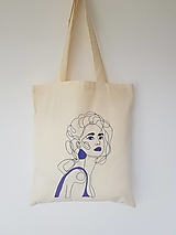 Nákupné tašky - •ručne maľovaná plátená taška - Violet• - 13324624_