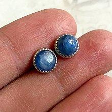 Náušnice - Kyanite AG925 Stud Earrings / Náušnice s kyanitom AG925 - 13328244_