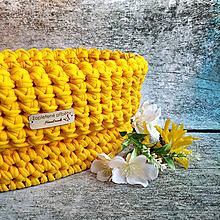 Košíky - Amber | štýlový háčkovaný košík - 13331448_