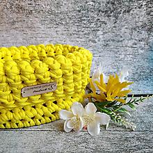 Košíky - Mango | malý háčkovaný košík - 13331475_