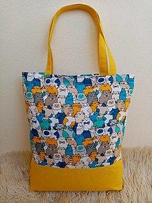 Nákupné tašky - Nákupná taška mačičky - 13329726_
