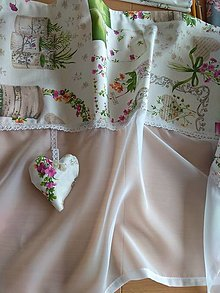Úžitkový textil - Záclona green - 13331120_