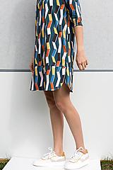 - upletové šaty - organická bavlna - 13329131_