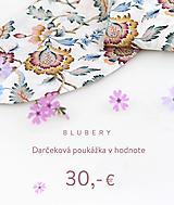 Darčekové poukážky - Blubery - darčeková poukážka - 13329016_