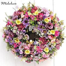 Dekorácie - Romantický veniec 41 cm - 13329921_