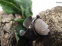 Prstene - Snenie......(krištáľová drúza) - 13330152_