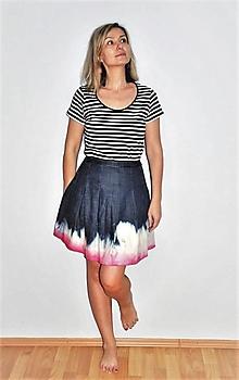 """Sukne - sukňa """" ružový batik"""" - 13329220_"""