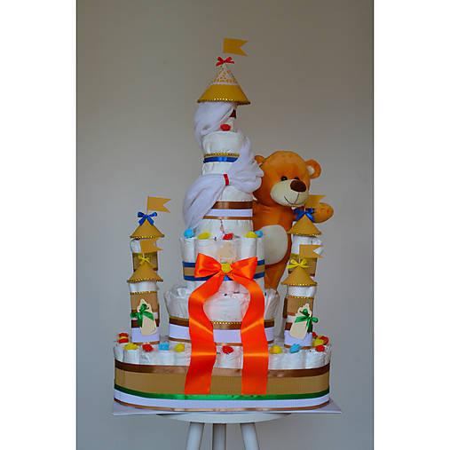 Veľká plienková torta ZÁMOK