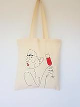 Nákupné tašky - •ručne maľovaná plátená taška - Velvet• - 13328863_