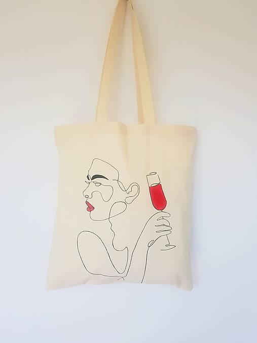 •ručne maľovaná plátená taška - Velvet•