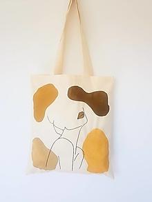 Nákupné tašky - •ručne maľovaná plátená taška - Susan• - 13328936_