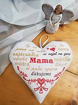 Dekorácie - Srdiečko pre mamičku - 13331829_